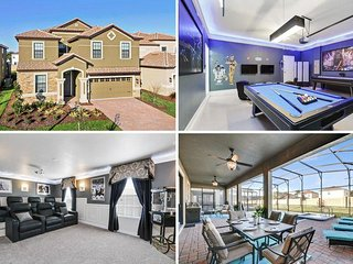 Champions Gate -8BD/5BA Pool Home - Sleeps 16 - Platinum