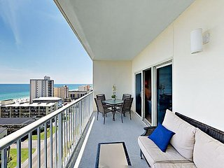 2BR Crystal Tower 1105 w/ Pool, Lazy River, & Gulf Views, Walk to Beach