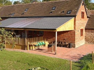 Converted barn on working family farm