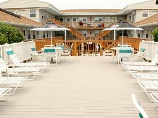 Beautiful sundeck. Room to stretch out and enjoy each other's company.