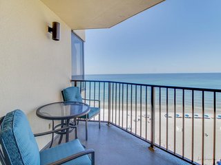 Sun-soaked oceanfront condo with shared pool, tennis, and sweeping views!