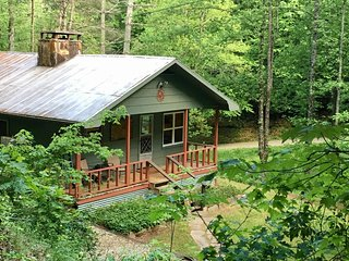 Casey Cottage-SPARKLING HOT TUB, NOISY CREEK, EASY ACCESS, CLOSE TO IT ALL