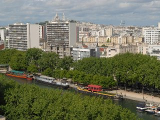Location studio vue panoramique sur Paris