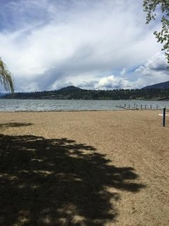 View of Okanagan Lake from the beach near the house