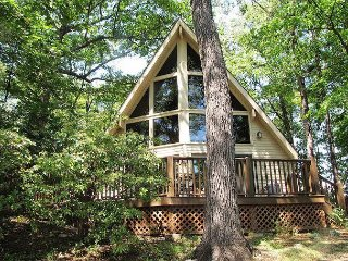 Great mountain lodge feeling with soaring a-frame and beam construction, Gatlinburg