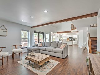 Recently remodeled, the spacious open layout has new modern-rustic furnishings.