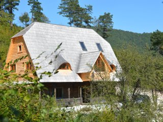 Traditional Transylvanian house in Sunset Mountains near Turda, Cluj