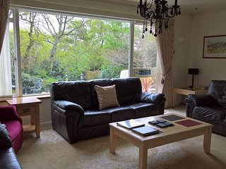 Lounge with views towards the Dorset lakes