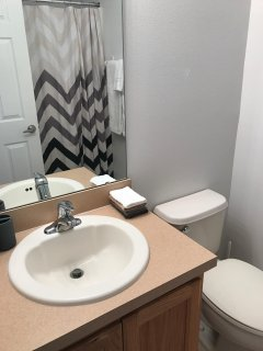 The ground floor shower room is convenient for guests