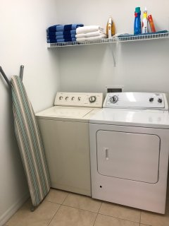 having a laundry room means not having to pack so much!
