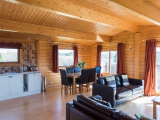 Greetham Valley Self Catering Lodge Open Plan Living Area