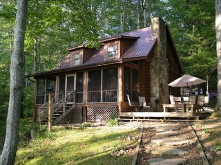 Beautiful Lakefront Cabin on gradually sloping lot, La Follette