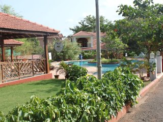 Our beautiful Villa with pool in front, forest behind and beach close by