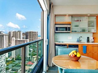 End Unit Ala Moana Hotel Suite with Full Kitchen and Gorgeous Views