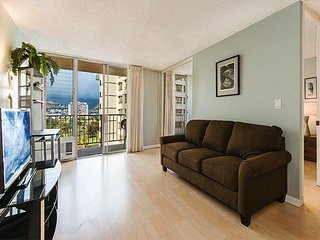 Newly Updated 1 Bedroom/ Bath with Ala Wai, Mt. Views, and Renovated Pool!