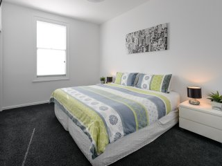 Bedroom 1 can have 1 king bed or 2 single beds plus comfortable single rollaway bed.