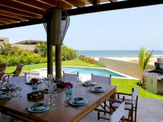 Luxury Beach House rental, infront of Mancora Wave.