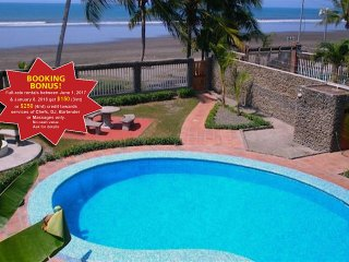 Beach Front 9 BR Casa Dulce - Party on the beach! Prime Location