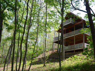 Peaceful 3 bedroom +loft nestled in the woods, Blue Ridge