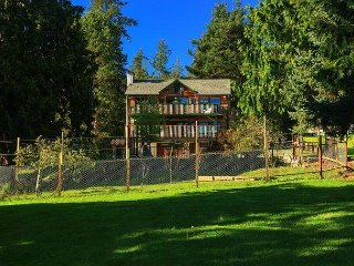 Custom built cedar home on a half acre in charming Coupeville, 2 bed 2.5 bath
