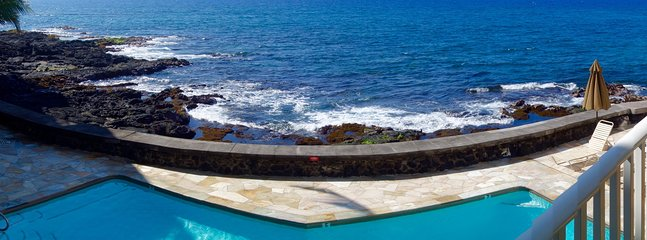 Pool deck with endless ocean view