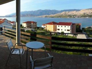 Discover Pag | OLIVE | Balcony, Sea views, 3mins to Beach, Wifi, Parking