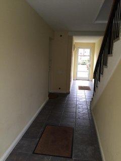 Rear exit   View from front door hallway