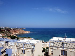 Three bedroom beach-side townhouse with sea-views in Calas de Campoamor