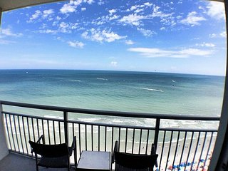 Stunning Ocean Front View for miles from the 19th floor