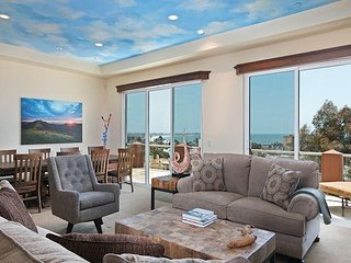 Custom 4BR w/ Spacious Decks & Panoramic Ocean Views—Walk to Downtown, Ventura