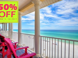 50% OFF JUNE 3-10, 2017 BEACH FRONT W/ ELEVATOR NEAR ENTERTAINMENT & MORE!