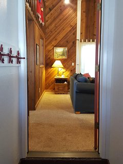 Entryway with storage closet, garage access and washer and dryer