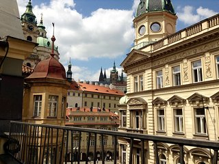 RIGHT BY CHARLES BRIDGE, PRIME LOCATION ~   Luxurious flat, balcony, lift