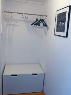 Space for your luggage and wardrobe