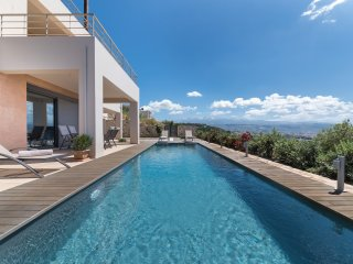 A modern-designed apartment with breath-taking, panoramic view and private pool