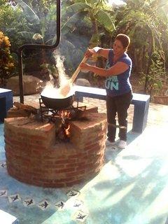 Noemi making sancocho
