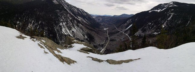 Winter view from Mt Willard, an short hike about 15 minutes from cabin