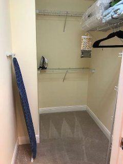 Large walk-in closet in the 2nd bedroom as well. Linens for the pull out are stored here.