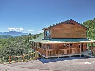 NEW! 2BR Sevierville Cabin w/Mtn Views & 3 Decks!