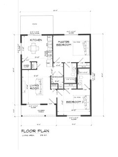 Here is the floor plan of this lovely little home