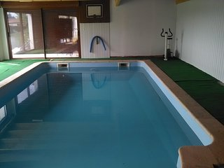 Large Countryside House with Private Indoor Heated Swimming Pool and Gardens