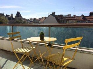 Appartement Toledo : Vue sur les arbres en centre ville, Biarritz