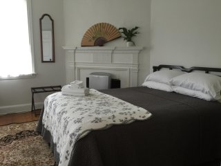 RM 202 Queen bedroom in a Historic Home
