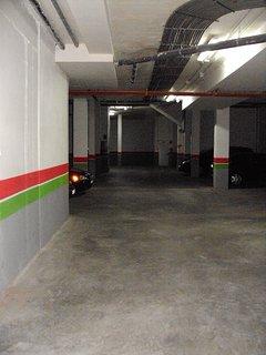 Interior del garaje comunitario