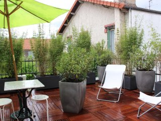 Studio in Malakoff, with furnished terrace and WiFi