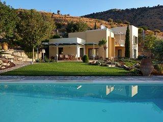 Villa Theodora - Beautiful big villa, private pool, privacy, seaview bay Agia