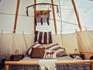 Glamping: Spirit Lodge Tipi