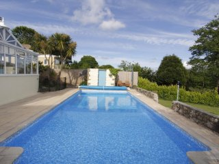 Cornish Cottage with Garden, Pool, & Fabulous South-Facing Country Views