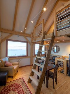 There is a ladder that takes you to the loft - a great place to read and soak up the view.