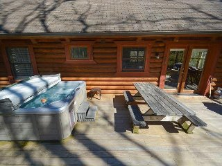 Charming log cabin close to area activities!, Swanton